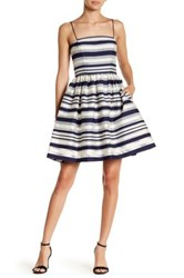 Erin Fetherston Strapless Striped Dress Blue