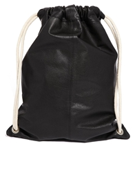 Asos Leather Sports Bag Black