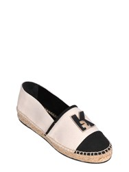 Karl Lagerfeld Cotton Canvas Espadrilles