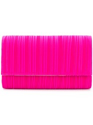 Casadei Pleated Clutch Bag Pink And Purple