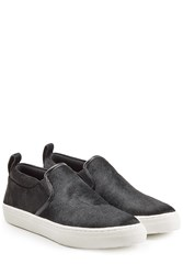 Marc Jacobs Calf Hair Slip On Sneakers Black