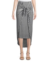 Splendid Isola Striped Sarong Midi Skirt Multi