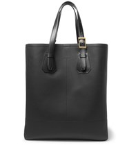Tom Ford North West Full Grain Leather Tote Bag Black