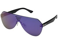 Von Zipper Alt Farva Black Gloss Flash Pink Fashion Sunglasses Purple