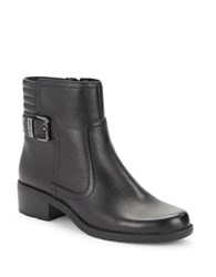 Anne Klein Lanette Leather Ankle Booties Black