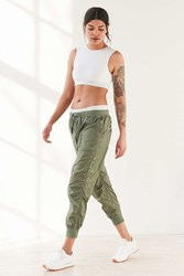 Without Walls Jane Sheer Tech Parachute Pant Green