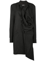 Moohong Oversized Deconstructed Coat Black