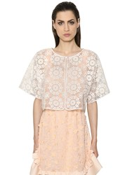 Max Mara Shine Floral Embroidered Light Organza Jacket