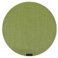 Chilewich Basketweave Round Placemat Grass Green