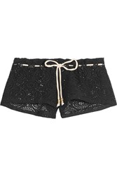 Eberjey Boho Beautiful Andrea Crocheted Shorts Black