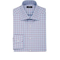 Fairfax Men's Mixed Check Cotton Shirt Blue