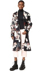 Preen Sitwell Coat Painted Flower
