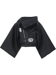 Ktz Wide Sleeve Patched Jacket Black
