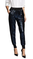 Kendall Kylie Sequin Joggers Navy