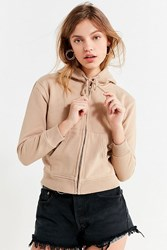 Urban Outfitters Uo Melody Hoodie Sweatshirt Taupe