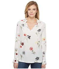 Equipment Bristol Q2801 E872 Bright White Multi Women's Blouse Yellow