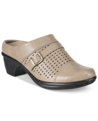Easy Street Shoes Cleveland Mules Women's Stone