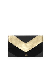 Vince Camuto Fitzi Texture Block Leather Clutch Black