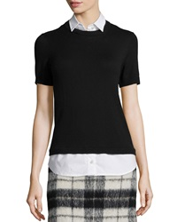 Kate Spade Collared Short Sleeve Sweater