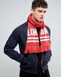 Abuze London Lon Don Knitted Scarf Black
