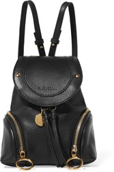 See By Chloe Olga Small Textured Leather Backpack Black