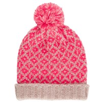 John Lewis Mix And Match Pom Pom Beanie Hat Coral Blush