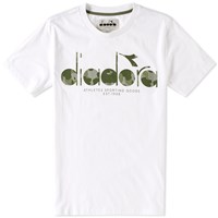 Diadora Uk Camo Logo Tee White