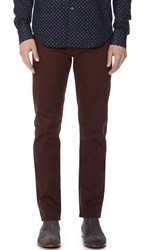 Naked And Famous Slim Chinos Burgundy