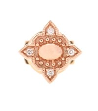 Stone Paris Navajo Button 18Kt Rose Gold And Diamond Earring