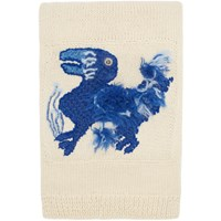 Loewe Off White William De Morgan Knit Embroidered Scarf