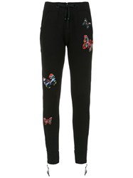 Andrea Bogosian Embroidered Sweatpants Black