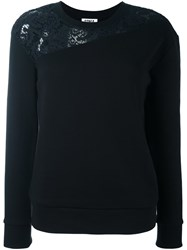 Sonia Rykiel By Lace Detail Sweatshirt Black