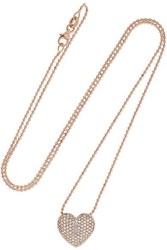 Anita Ko 18 Karat Rose Gold Diamond Necklace One Size