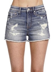 Cult Of Individuality Chaos High Rise Denim Shorts 10 Year Aged