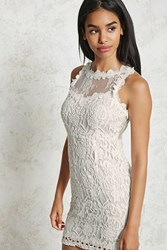 Forever 21 Crochet Lace Sheath Dress White