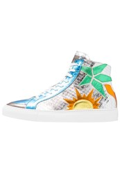 Just Cavalli Hightop Trainers Silver