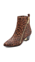 Rachel Zoe Rory Zipper Booties Leopard