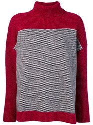 Le Mont St Michel Pin Point Sweater Red