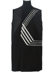 Rick Owens Embroidered Sleeveless Knit Top Black