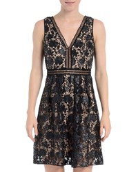 Romeo And Juliet Couture Sleeveless Faux Leather Dress Black