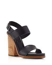 Vince Haley Wood Block Heel Sandals Compare At 395 Black