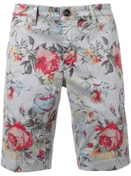 Re Hash Floral Shorts Men Cotton Spandex Elastane 34 Grey