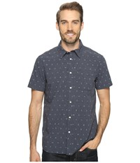 The North Face Short Sleeve Pursuit Shirt Urban Navy Uncharted Print Men's Short Sleeve Button Up