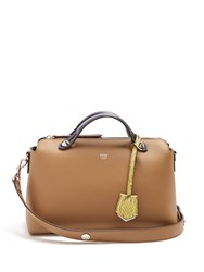 Fendi By The Way Leather And Snakeskin Bag Tan Multi