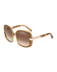 Dsquared2 Large Square Sunglasses Havana Brown