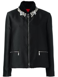 Moncler Gamme Rouge Embellished Puffer Jacket Black