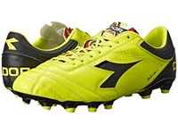 Diadora Italica 3 K Pro Mg 14 Yellow Fluo Dd Black Men's Soccer Shoes