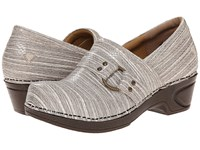 Nurse Mates Dakota Gray Linen Women's Clog Shoes