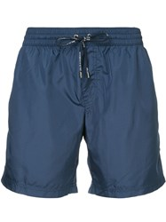 Dolce And Gabbana Drawstring Fitted Swim Shorts Blue