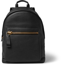 Tom Ford Pebble Grain Leather Backpack Black